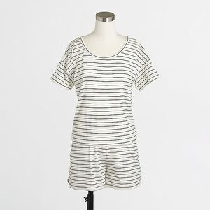 J.Crew Striped Knit Romper
